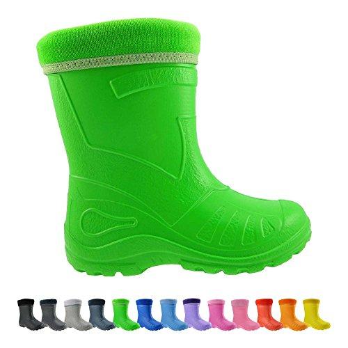 Gallux Kinder Gummistiefel EVA unisex Grün (050 Green) EU 24