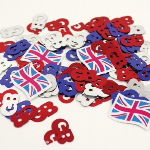 Streu-Deko: Konfetti, Großbritannien-Flagge und GB-Zeichen, 14 g