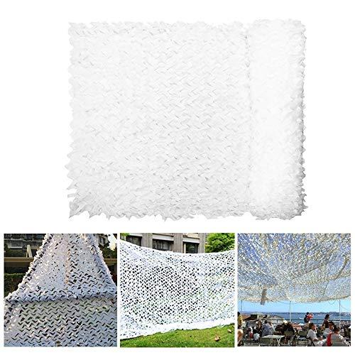 DGLIYJ Weißes Tarnnetz Leicht und langlebig Leicht zu Falten für das Thema dekoratives Balkon-Carport-Schattennetz (Size : 3x8m)