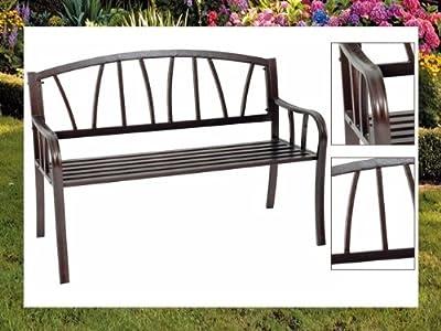 Gartenbank Hyde Bank Metall unterverzinkt braun Antik Look Sitzbank Eisen