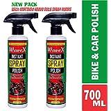 WaveX ISP350G Instant Spray Polish (350 ml, Green, 2 Pieces)