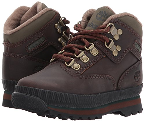 Timberland Unisex Kid s Euro Hiker Low Rise Hiking Boots   Medium Brown Full Grain P01   8 5  26 EU