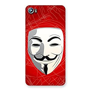 Impressive Red Anonymous Mask Back Case Cover for Micromax Canvas Fire 4 A107