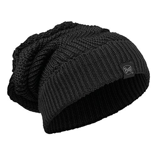Buff Erwachsene Mütze Knitted Neckwarmer Hat Ramdon Black, One (Dreads Hats)