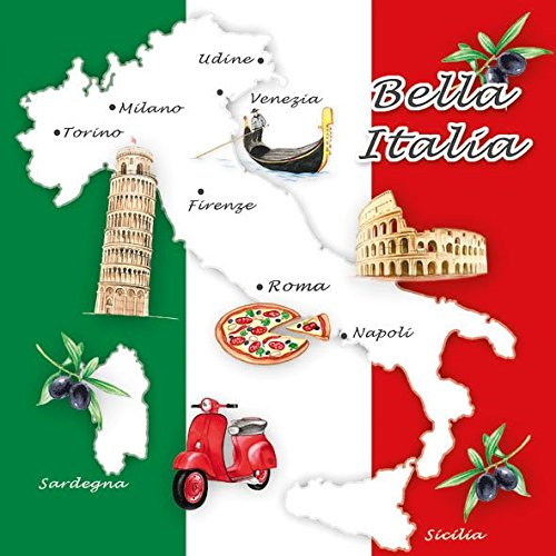 Ambiente Servietten Lunch / Party 33x33cm Bella Italia