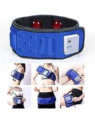 Vinteky®Cinturón Electroestimulador(Calentamiento por Infrarrojos) Abdominal, Cinturón Vibratorio y Adelgazante para