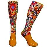 Shinnerz inner sock - shin liner protection under shin pad. (Flower Power, 8-12 yrs)