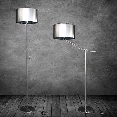 [lux.pro] Stehleuchte Stehlampe Höhenverstellbar 1 x E27 Chromfuß + Chromschirm [Durchmesser: 35,0 cm] Wohnzimmerlampe Leuchte Standleuchte von lux.pro® - Lampenhans.de