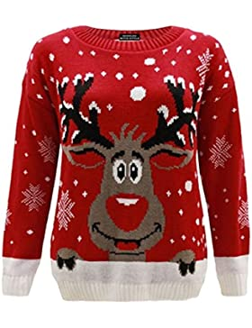 CelebLook Mujer Reno De Navidad Suéter Novedad