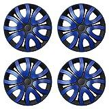 CM DESIGN MIKA Blau Schwarz - 15 Zoll, passend für Fast alle FIAT z.B. für FIAT Grande Punto EVO Typ 199 Vergleich
