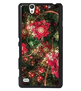 PRINTSWAG FLOWERS Designer Back Cover Case for SONY XPERIA C4