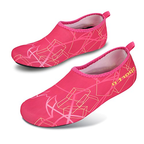 L-RUN Unisex Wasser Schuhe Barfuß Skin Schuhe für Run Dive Surf Swim Beach Yoga Rosa
