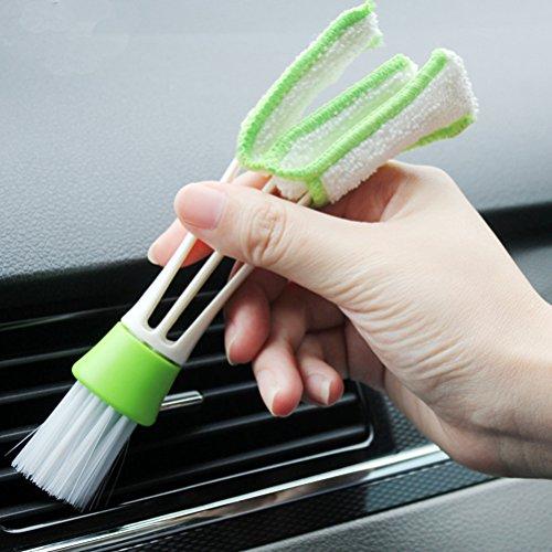 Bürste und Reinigungstuch für Auto Bürste mit doppeltem Ende Microfaser für Haus, Auto, Büro, Tastatur, Computer-Reinigung