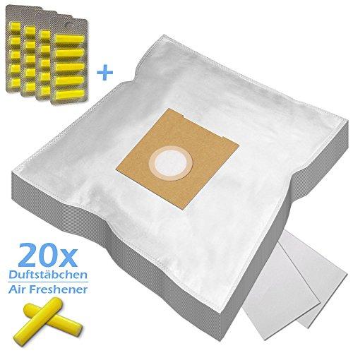XXL PACK - 20 Duftstäbchen + 20 Staubsaugerbeutel geeignet für SIEMENS VS 04 G 2200 Rapid