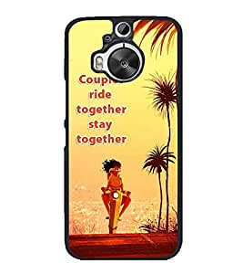 FUSON Couple Ride Together Designer Back Case Cover for HTC One M9 Plus :: HTC One M9+ :: HTC One M9+ Supreme Camera