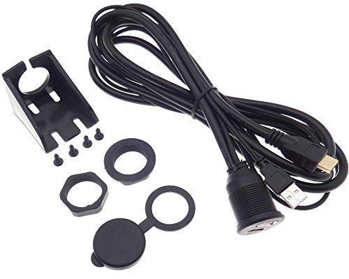 USB HDMI 2m Kabel Verlängerung Wasserdicht Buchse Stecker Einbau Montage Adapter -