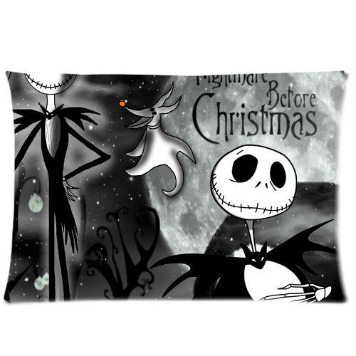 (ABCHomes Fashion Nightmare Before Christmas Skull Kissenbezüge Reißverschluss Kissen Fall 20x 30Standard (Zwei Seiten))