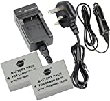 DSTE® 2x NB-7L Rechargeable Li-ion Battery + DC86U Travel and Car Charger Adapter for Canon PowerShot G10 G11 G12 SX30 IS Digital Camera