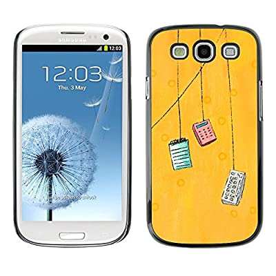 GIFT CHOICE / Teléfono Estuche protector Duro Cáscara Funda Cubierta Caso / Hard Case for Samsung Galaxy S3 // Yellow Accountant Calculator Art //