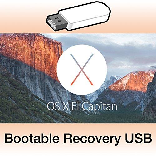 Preisvergleich Produktbild OS X 10.11.6 El Capitan bootfähigen USB-Stick Installer Recovery USB + Anleitung
