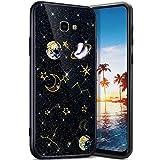 Robinsoni Funda Compatible con Samsung Galaxy J4 Plus 2018 Funda Silicona Carcasa Sparkle Bling Carcasa Gel Goma Fundas de Silicona 3D Case Flexible Ultra Brillante Carcasa Funda Negro
