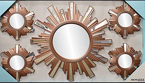 Espejo-decorativo-5-piezas-de-Juego-en-Sol-o-flores-diseo