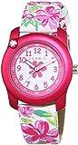 Esprit Mädchen-Armbanduhr Tropical Flowers White Pink Analog Quarz Leder ES108344004