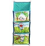 PrettyKrafts Doraemon Printed Multi-Utility Fun Hanging Rack - Storage Organiser - Blue