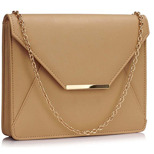 L And S Handbags, Poschette giorno donna Nude