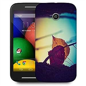 Snoogg Dry Leaves On Ground Designer Protective Phone Back Case Cover for Motorola E2/Moto E22