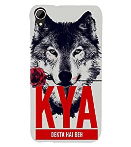 ifasho Designer Back Case Cover for HTC Desire 828 Dual Sim (Wolf Kya Be Beh Rose )