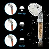 Ionic Shower Head Handheld 3way Function Filter Bead Replacement 200 High Pressure, 30 Water Saving from Rymerce