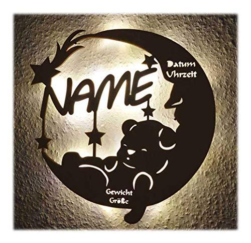 Schlummerlicht24 Led Lampe personalisiert Babygeschenk Sweet Dream Taufgeschenke Geschenke zur Geburt Kommunion Taufe Geschenk mit Namen individuell Junge Mädchen Jungs (1. Geburtstags-geschenk-ideen Jungen Für)