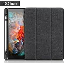 iVAPO Pencil Holder Funda de iPad Pro 10.5 con Auto Sueño / Estela Funcion Caso PU Folio Carcasa para iPad Pro 10.5 (Version 2017,Negro)