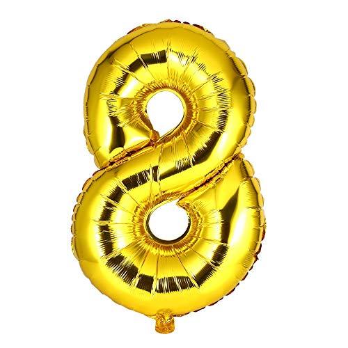 30 Zoll-Folien-Mylar-Ballons für Wanddekoration Anzahl Digit-Folien-Ballone (Anzahl Luftballons Folie)