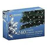 The Christmas Workshop 240 LED String Lights, Bright White