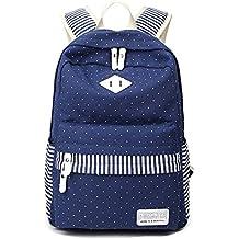 OHmais Backpack Mochila Esucuelas Con Gran Capilidad Nuevo Mochila Simple Moda Para Estudiantes