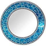 Decorative Smith Wall Mirror Decorative For Living Room - Blue