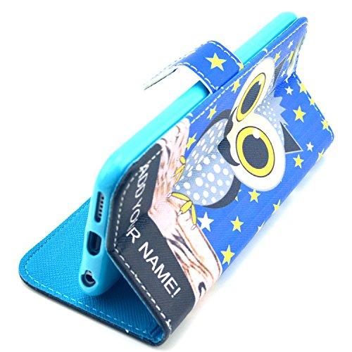 """MOONCASE iPhone 6 Case Motif Conception Coque en Cuir Portefeuille Housse de Protection Étui à rabat Case pour iPhone 6 (4.7"""") P36"""