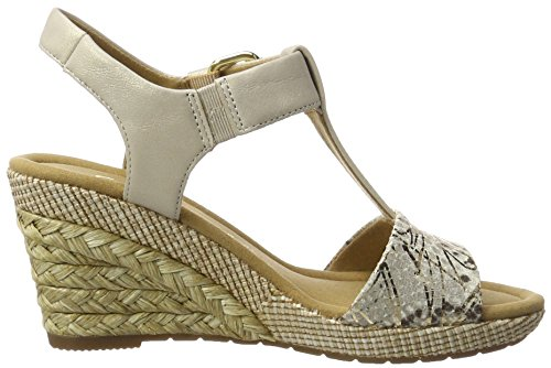 Gabor Shoes Comfort, Sandali con Zeppa Donna Beige (space/puder Bast)