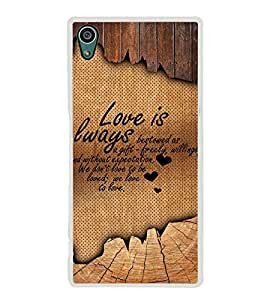 Fuson Beautiful Love Quote Designer Back Case Cover for Sony Xperia Z5 :: Sony Xperia Z5 Dual 23MP (Love Quotes Inspiration Emotion Care Fun Funny)