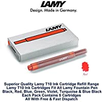 Lamy T10 rojo pluma estilográfica cartuchos de tinta T10 recargas Nexx – Vista de repuesto Pack