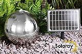 45cm Solar-Edelstahlbrunnen mit LED-Beleuchtung, Solaray™