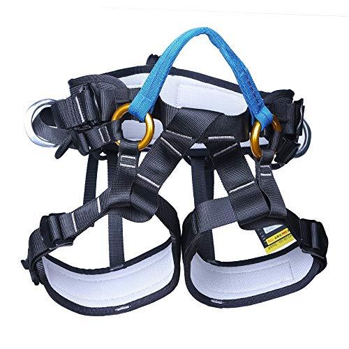 RMXMY Outdoor Kletterbaum Sicherheitsgurt Luftarbeit halbe Länge Downhill Versicherungsgurt Gurt Reiten Bergsteigerausrüstung (Farbe : Blau) -