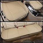 51PeThQbVxL._SS150_ HONCENMAX Auto Sitzauflage Sitzkissen Universal Sitzauflagen Autositzbezüge - BambusKohle PU Leder - [Ohne Rückenlehne] 2+1 Vorder und Rücksitzbezüge
