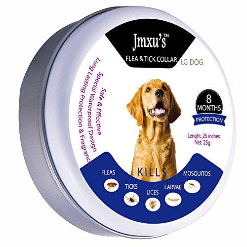 GSPON Pet Flöhe und Halsbänder - Einzigartige Rezepte für Hunde Sind Schnell und Nachhaltig geschützt. Hundemotte und Heuschreckenschutz - Einstellbare Länge für Große Haustiere
