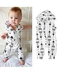 zhouba recién nacido infantil verano algodón flecha impresión sin mangas Pelele Mono Para Bebé ...