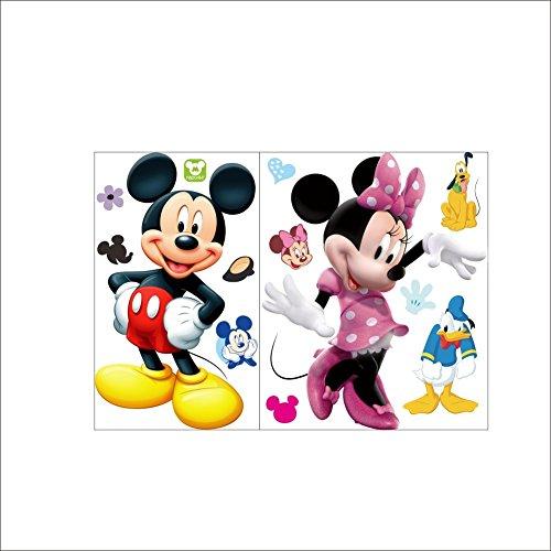 XXL Aufkleber Mickey und Minnie Mouse