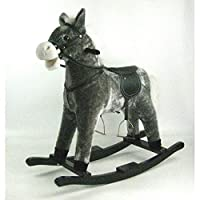 babieswithlove Cuddles Collection Toddlers Infants Rocking Horse - Suitable12mths+ - Grey Rocking Horse