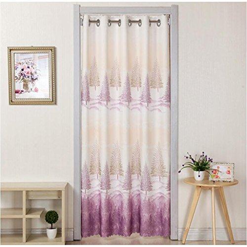 Liuyu · Lebendes Haus Tür Vorhang Tuch ländlichen abgeschnitten Badezimmer Schlafzimmer Küche Wohnzimmer langen Vorhang Wald Muster ( Farbe : Lila , größe : 180*150cm )